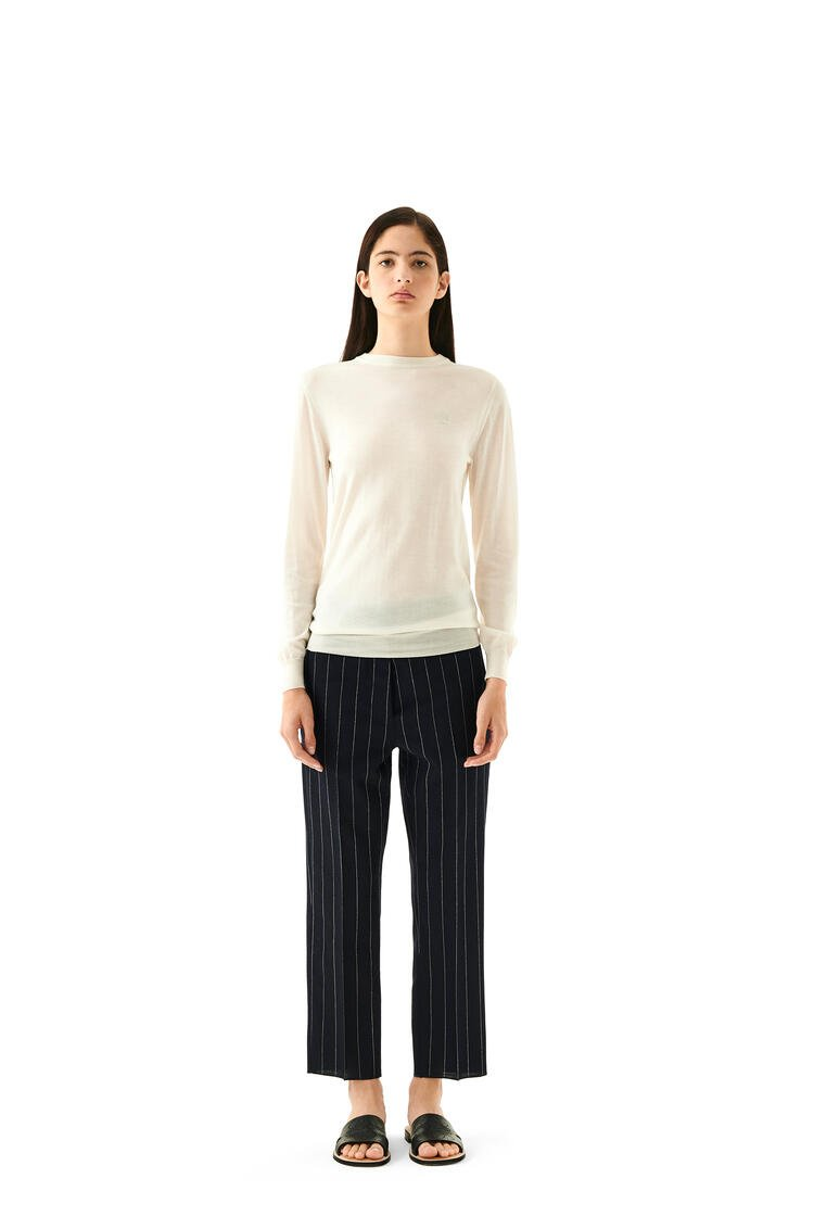 LOEWE Anagram Embroidered Sweater In Cashmere Ecru pdp_rd