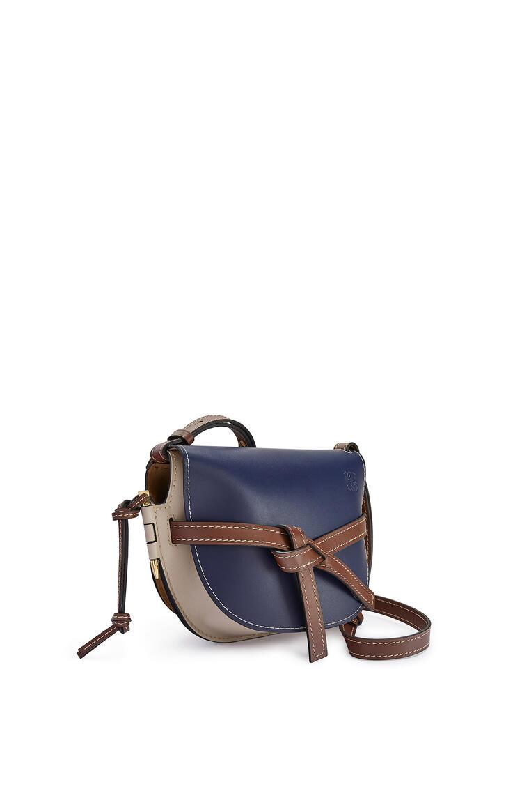 LOEWE Small Gate bag in soft calfskin Marine/Light Oat pdp_rd