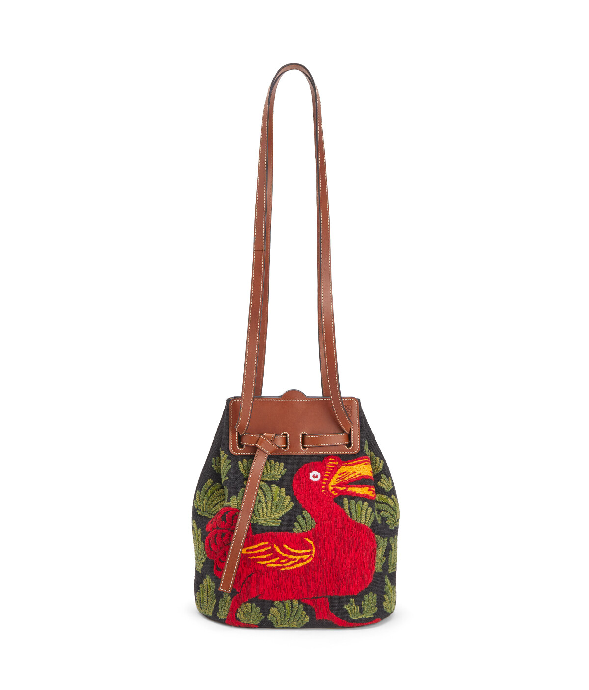 LOEWE Lazo Bucket Animals Black/Red front