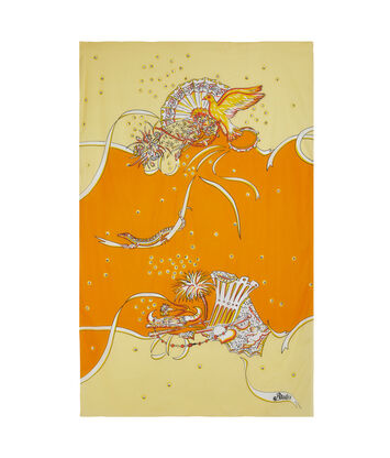 LOEWE 110X170 Paula Print Pareo Yellow/Orange front