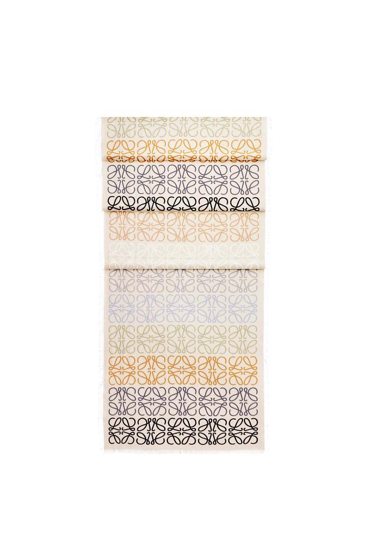 LOEWE 45 x 200 cm ロエベ アナグラム スカーフ(ウール&カシミヤ) マルチカラー/ホワイト pdp_rd