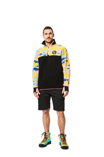 LOEWE Fleece Zip Sweater In Cotton Multicolor/Black pdp_rd