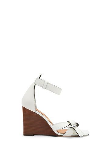 LOEWE Gate wedge sandal in calfskin White pdp_rd