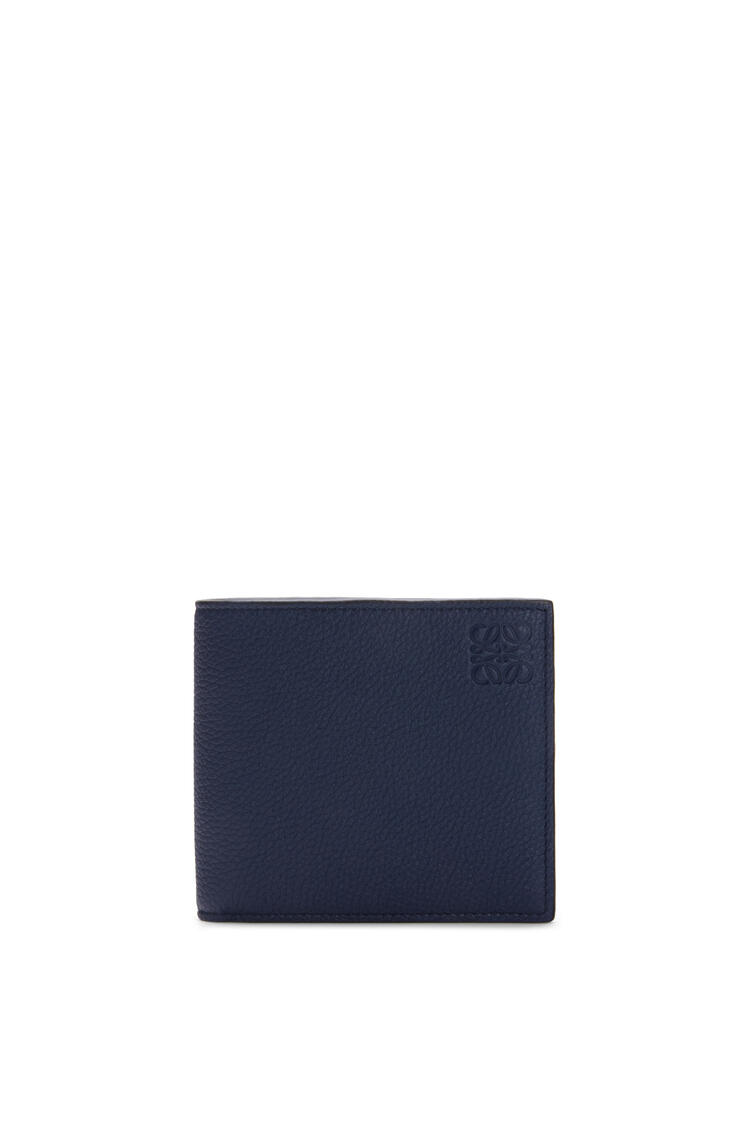 LOEWE Bifold coin wallet in soft grained calfskin Ocean pdp_rd