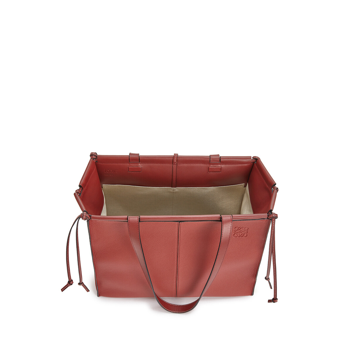 LOEWE Cushion Tote Garnet front
