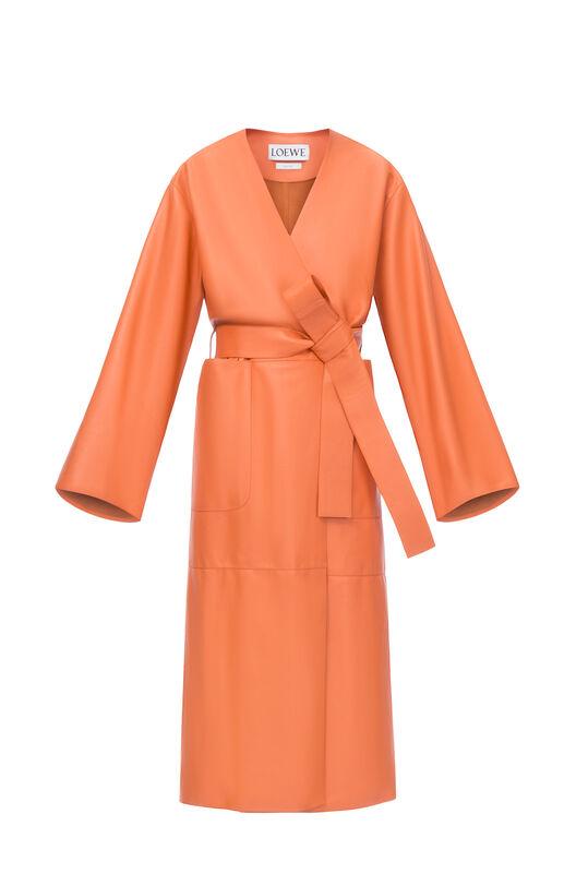 LOEWE ロングコート オレンジ all
