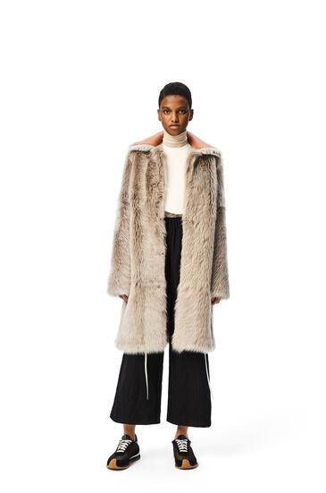 LOEWE Coat in shearling Grey/Taupe pdp_rd