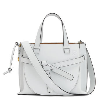LOEWE Small Gate Top Handle bag in soft grained calfskin Kaolin pdp_rd