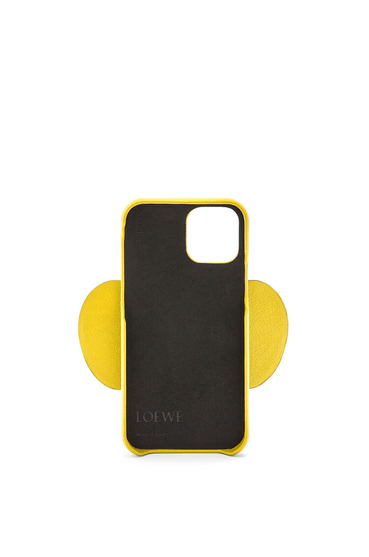 LOEWE Elephant phone cover in calfskin for iPhone 12 Pro Yellow pdp_rd