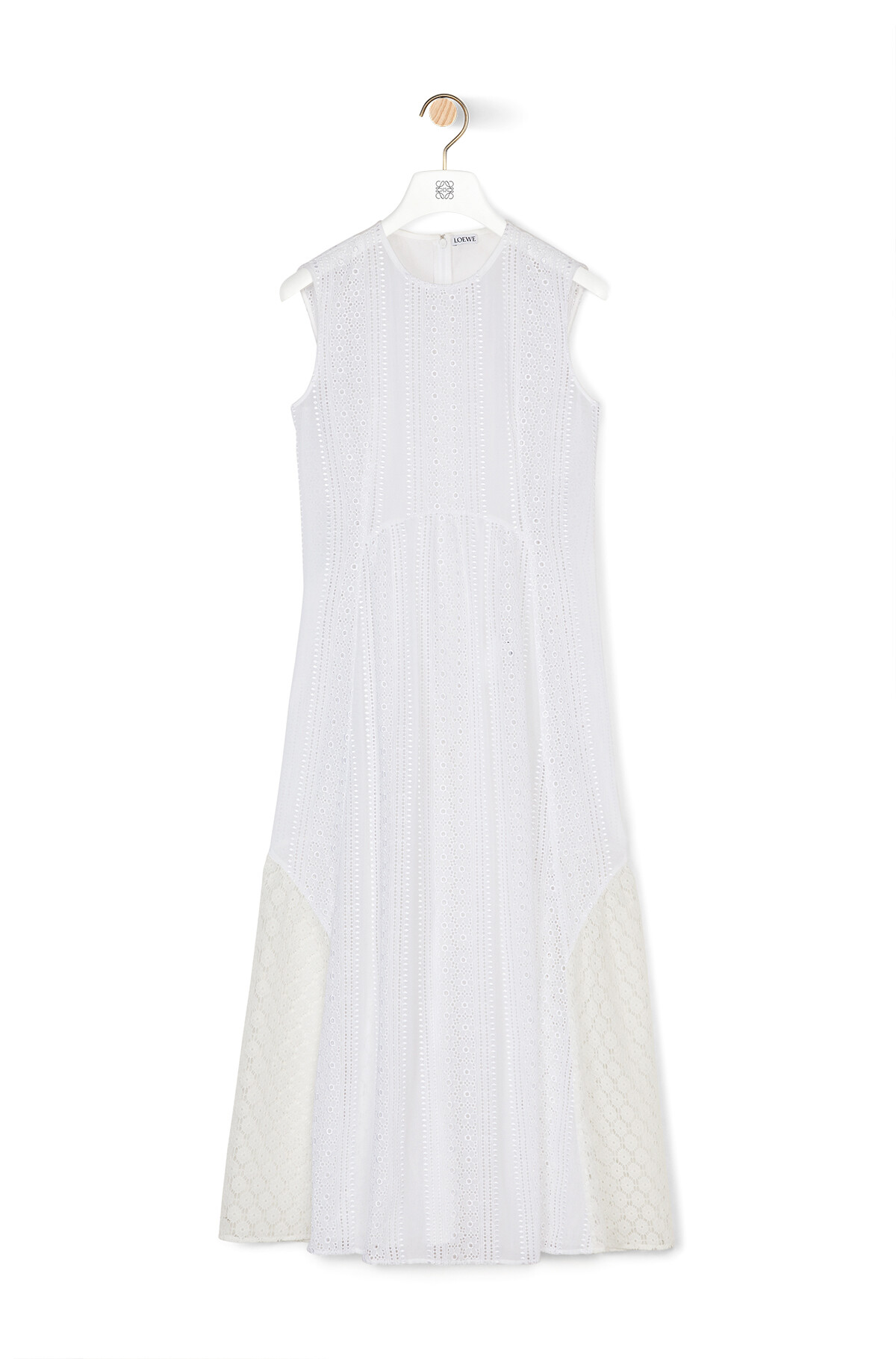 LOEWE Sleeveless Lace Dress White front