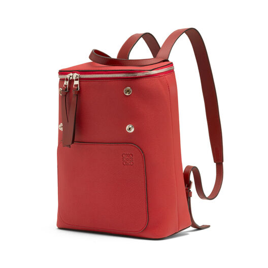 LOEWE Goya Small Backpack Scarlet Red/Burnt Red all