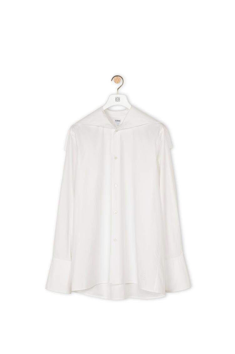 LOEWE Oversize collar shirt in cotton White pdp_rd