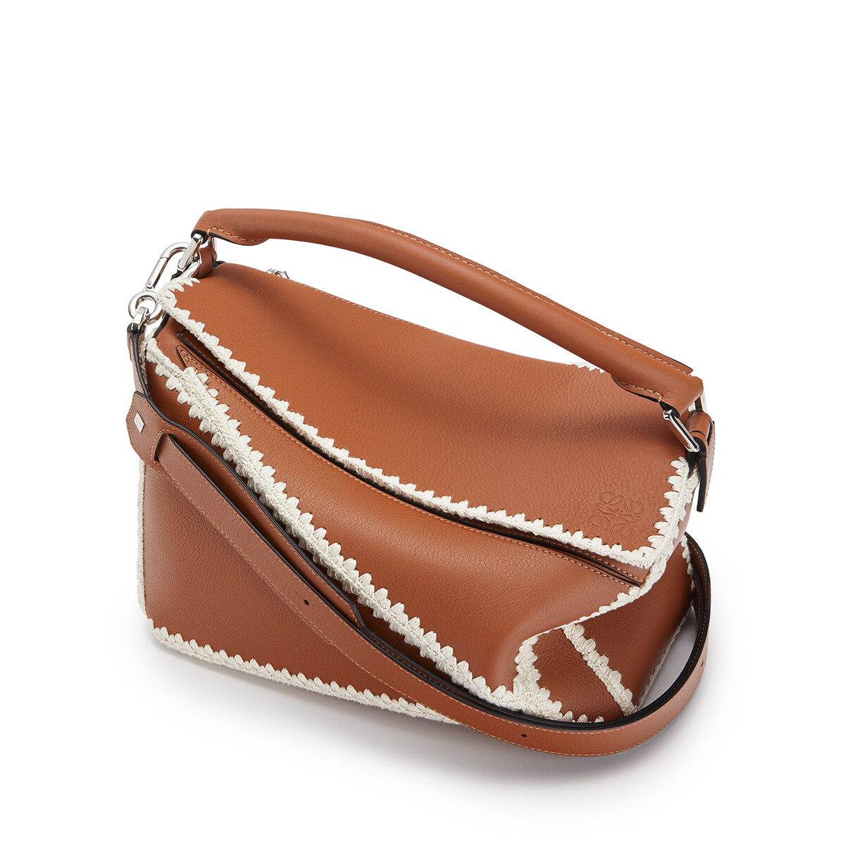 LOEWE Puzzle Crochet Bag 棕色 front
