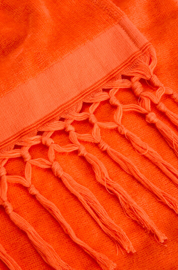 LOEWE 105厘米 X 170厘米棉质 Loewe 毛巾 荧光橙 front