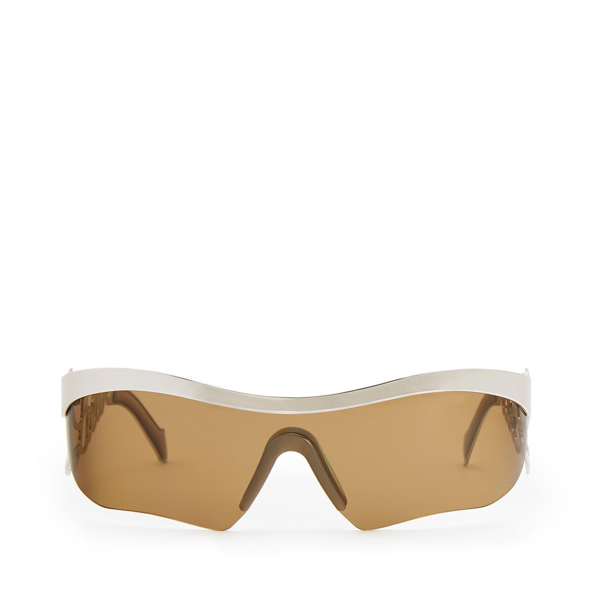 LOEWE Logo Mask Sunglasses Palladium/Green front