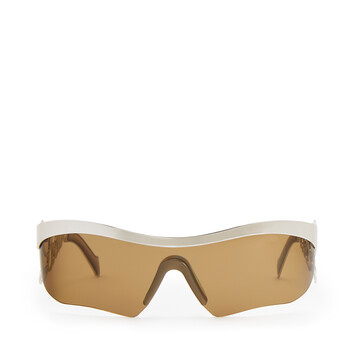 LOEWE Logo Mask Sunglasses Palladium/Green front