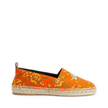 LOEWE Paula Print Espadrille Orange/Yellow front
