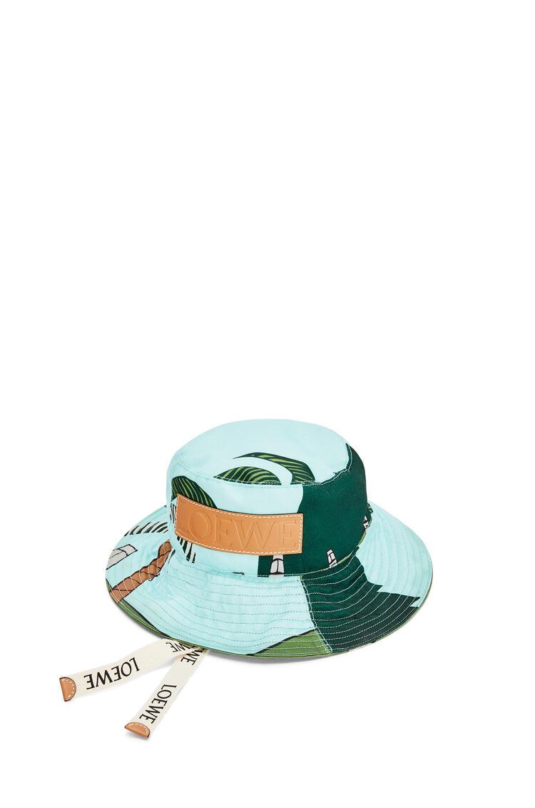 LOEWE 复活节岛帆布和牛皮革渔夫帽 Mint/Multicolor pdp_rd