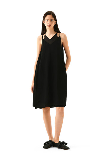 LOEWE Double Layer Dress Black front
