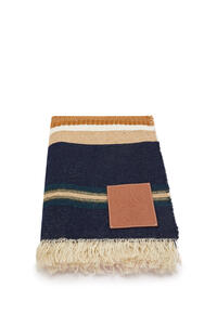LOEWE Stripe blanket in cashmere Multicolor/White pdp_rd