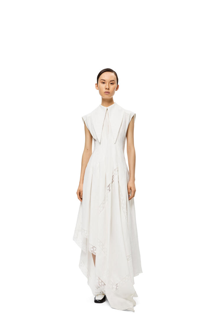 LOEWE オーバーサイズ カラー ドレス(リネン) ホワイト pdp_rd