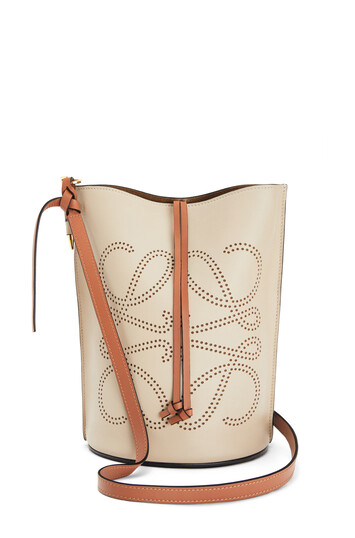 LOEWE Gate Bucket Anagram Bag Light Oat/Tan front