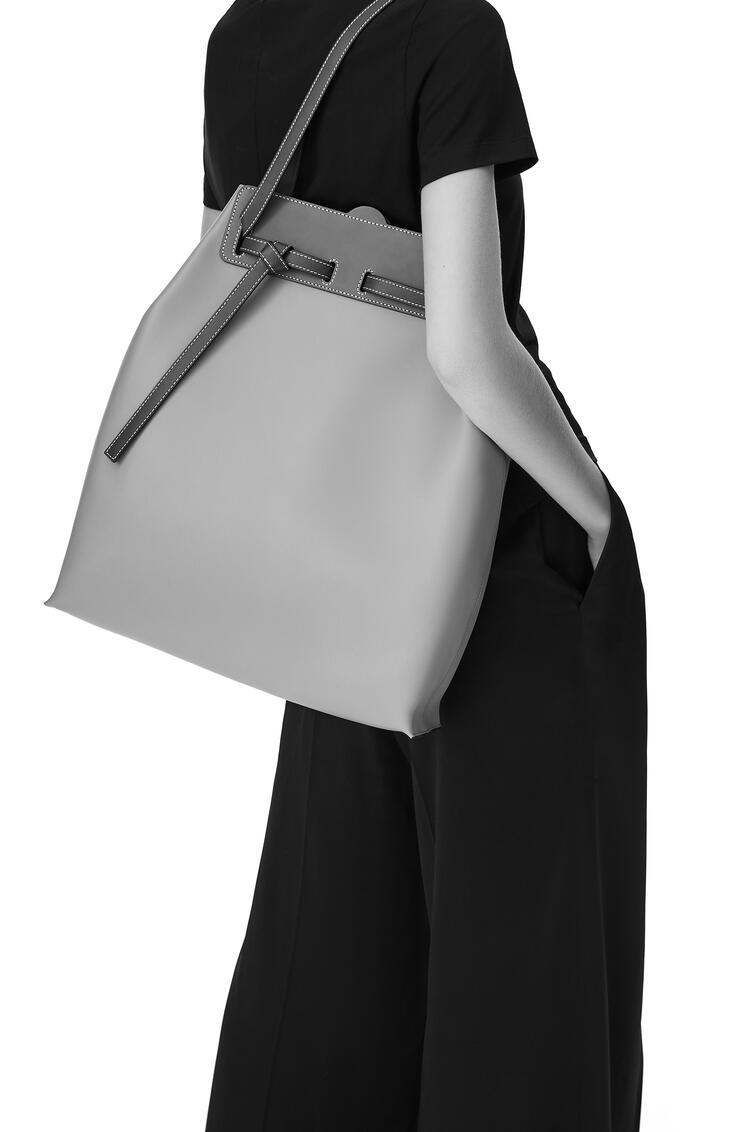 LOEWE Lazo Bucket Bag In Natural Calfskin Dark Taupe/Tan pdp_rd