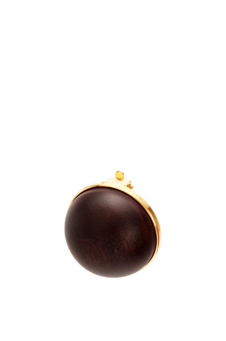 LOEWE Globe earring in wood Black pdp_rd