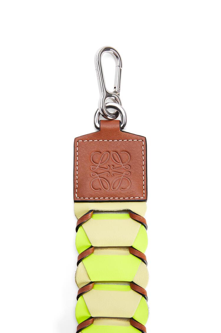 LOEWE Circles loop strap in classic calfskin Neon Yellow/Light Yellow  pdp_rd