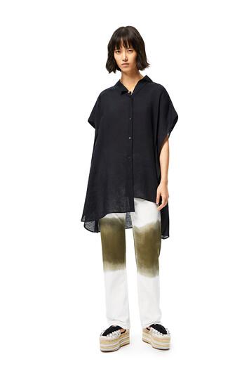 LOEWE Jeans In Tie Dye Cotton White/Khaki Green front