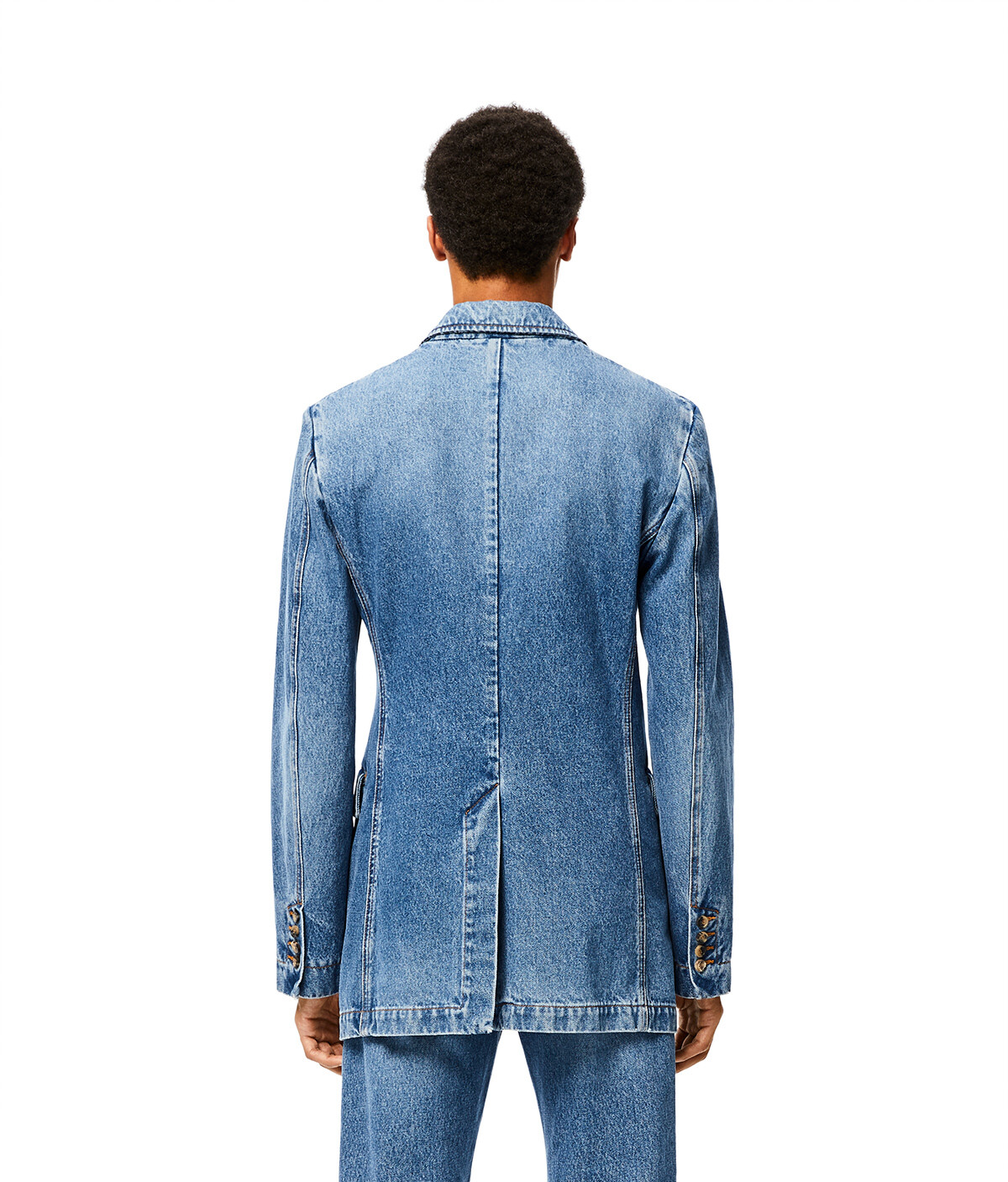 LOEWE 2Bt Denim Jacket Blue front