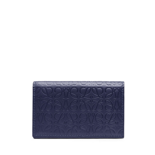 LOEWE Repeat Business Cardholder Navy Blue front