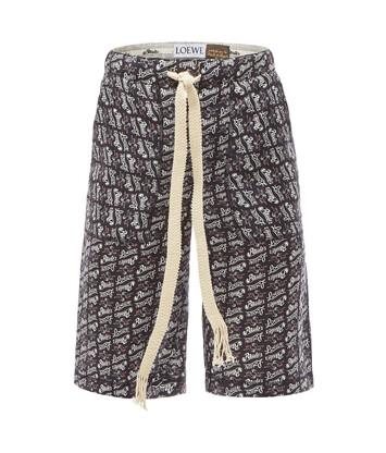 LOEWE Paula Print Shorts Negro/Blanco front