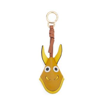 LOEWE Dragon Key Charm Ochre front