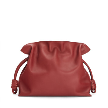 LOEWE Flamenco Clutch Burnt Red front