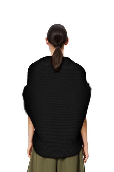 LOEWE Feather trim bolero in wool Black pdp_rd