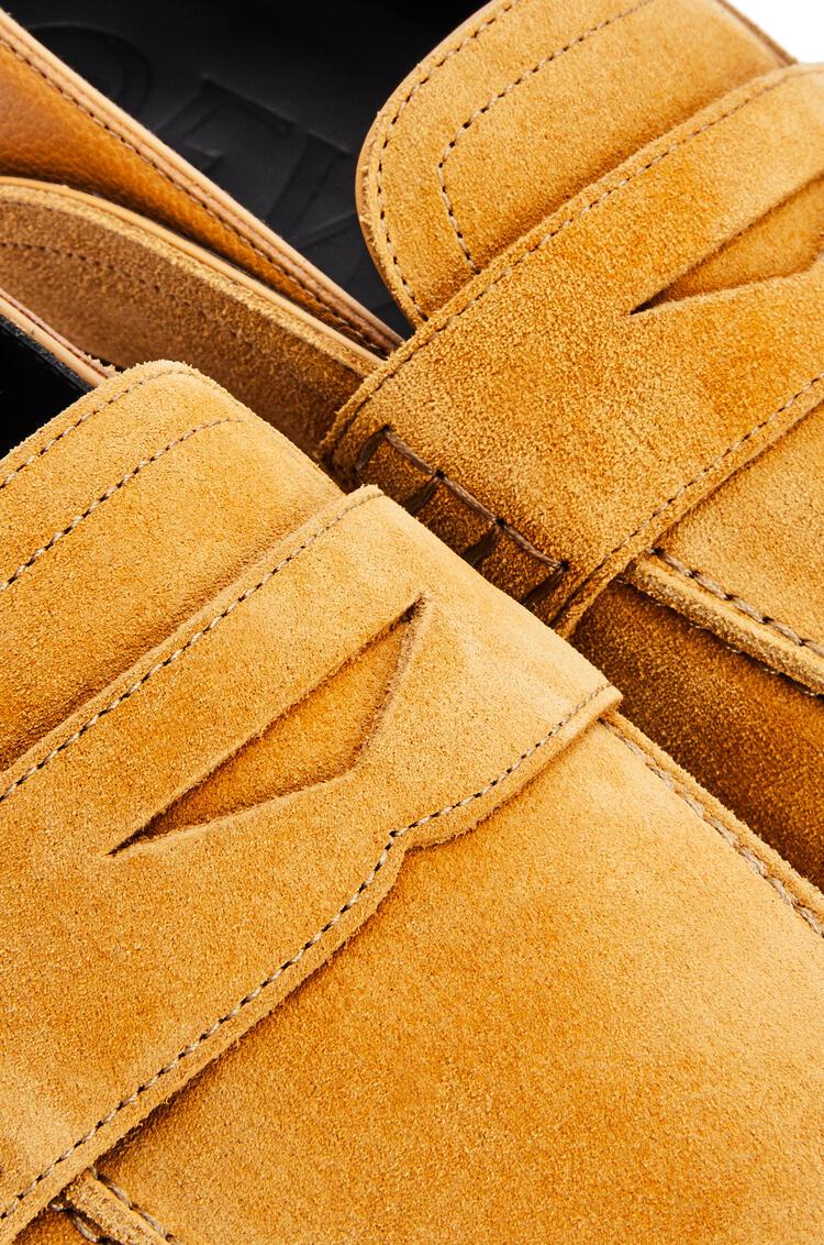 LOEWE Slip on loafer in suede Caramel pdp_rd