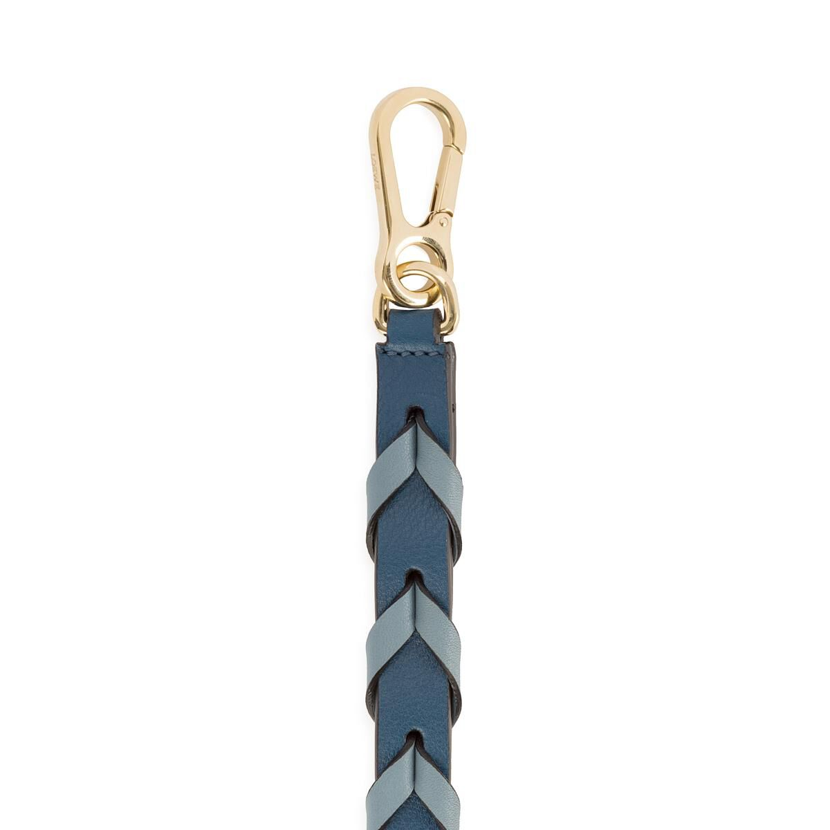 LOEWE Braided Thin Strap Stone Blue Multitone all