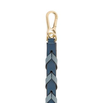 LOEWE Braided Thin Strap Stone Blue Multitone front