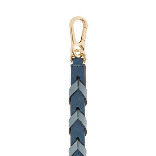 LOEWE Braided Thin Strap Stone Blue Multitone front