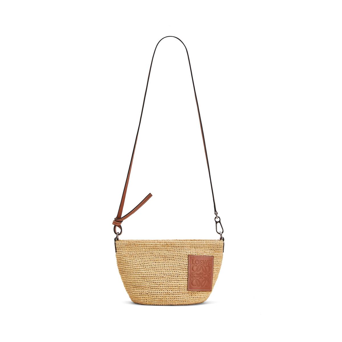 LOEWE Pochette Raffia Bag Natural front