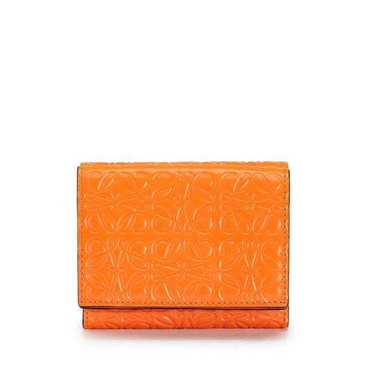 LOEWE Trifold Wallet 橙色 front