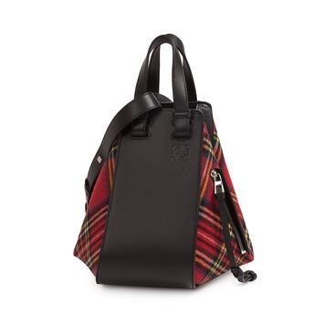 4fde75b081 LOEWE Hammock Tartan Small Bag Black Red Tartan front
