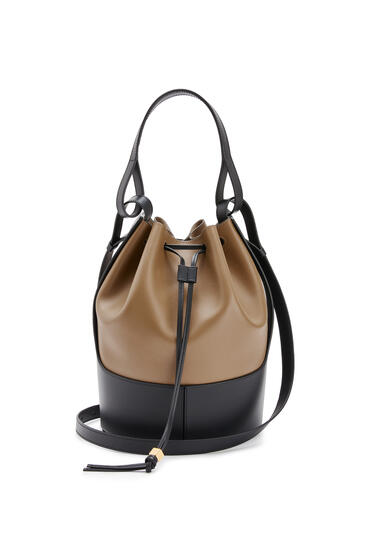 LOEWE Balloon bag in nappa calfskin Oak/Black pdp_rd