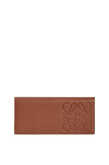 LOEWE Long horizontal wallet in smooth calfskin Cognac pdp_rd