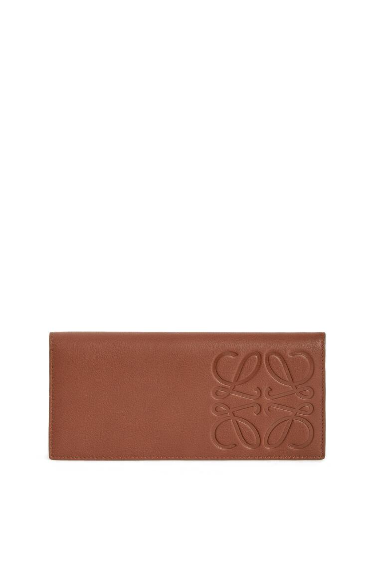 LOEWE Cartera larga horizontal en piel de ternera lisa Coñac pdp_rd