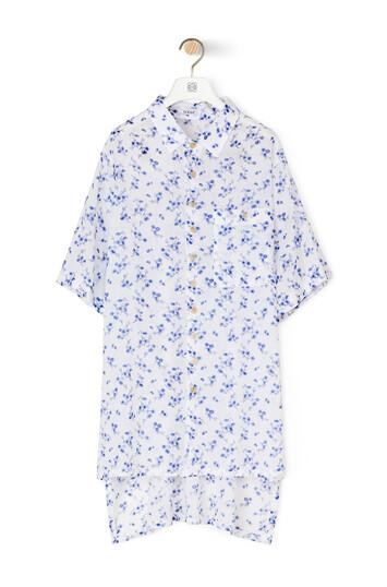 LOEWE フラワー オーバーサイズ ショート スリーブ white/blue front