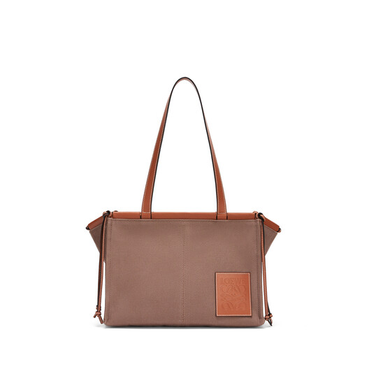 LOEWE Cushion Tote Small Bag Taupe front