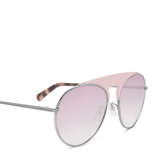 LOEWE Pilot Sunglasses Pink/Gradient Red Wine Pearly front