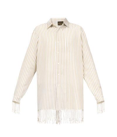 LOEWE Classic Shirt Paula Stripes Sand/White front